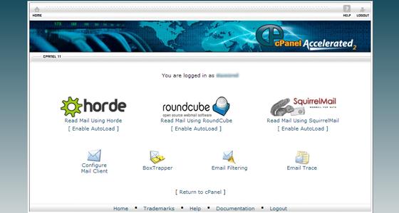 cPanel webmail clients
